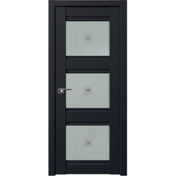 Дверь Профиль Дорс 4U Черный матовый - со стеклом (Товар № ZF209177)