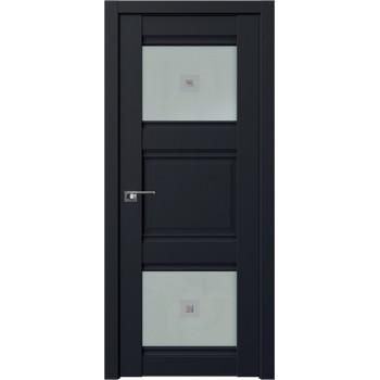 Дверь Профиль Дорс 6U Черный матовый - со стеклом (Товар № ZF209263)