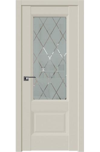 Дверь Профиль дорс 67.3U Магнолия сатинат - со стеклом (Товар № ZF211238)