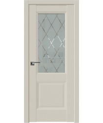 Дверь Профиль дорс 67.2U Магнолия сатинат - со стеклом (Товар № ZF211234)