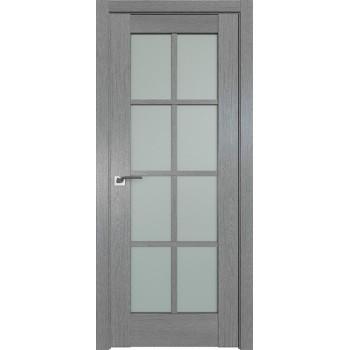 Дверь Профиль дорс 101XN Грувд серый - со стеклом (Товар № ZF212078)