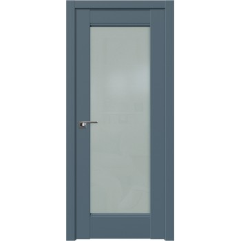 Дверь Профиль дорс 107U Антрацит - со стеклом (Товар № ZF211195)