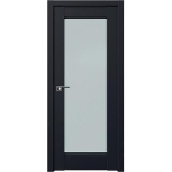 Дверь Профиль дорс 107U Черный матовый - со стеклом (Товар № ZF211693)