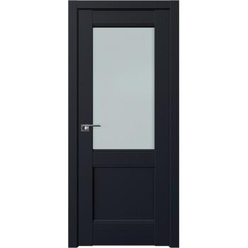 Дверь Профиль дорс 109U Черный матовый - со стеклом (Товар № ZF211696)