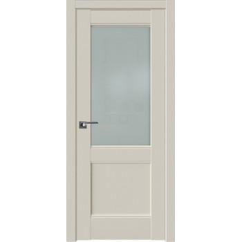Дверь Профиль дорс 109U Магнолия сатинат - со стеклом (Товар № ZF211578)