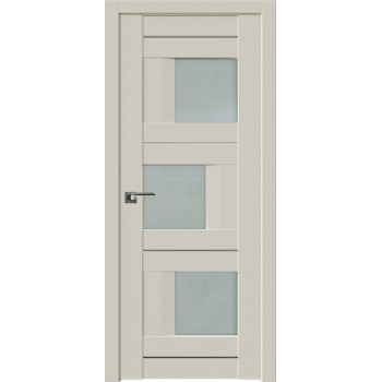 Дверь Профиль Дорс 13U Магнолия сатинат - со стеклом (Товар № ZF209211)