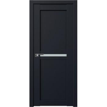 Дверь Профиль дорс 2.43U Черный матовый - со стеклом (Товар № ZF211687)