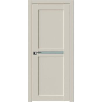 Дверь Профиль дорс 2.43U Магнолия сатинат - со стеклом (Товар № ZF211571)