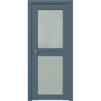 Дверь Профиль дорс 2.44U Антрацит - со стеклом (Товар № ZF211193)