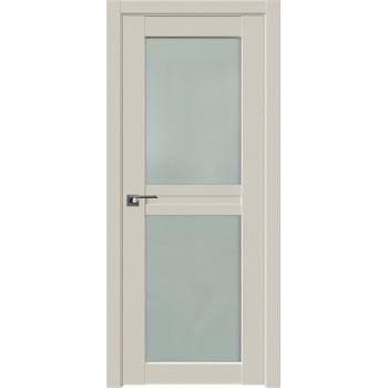 Дверь Профиль дорс 2.44U Магнолия сатинат - со стеклом (Товар № ZF211565)