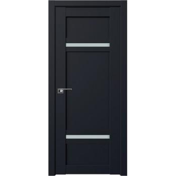 Дверь Профиль дорс 2.45U Черный матовый - со стеклом (Товар № ZF211685)