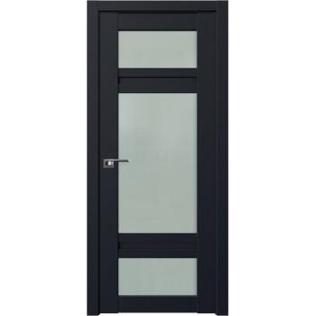 Дверь Профиль дорс 2.46U Черный матовый - со стеклом (Товар № ZF211690)