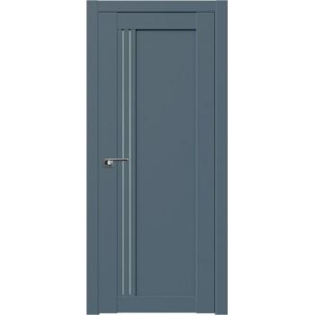 Дверь Профиль дорс 2.50U Антрацит - со стеклом (Товар № ZF211181)