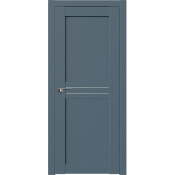 Дверь Профиль дорс 2.55U Антрацит - со стеклом (Товар № ZF211182)