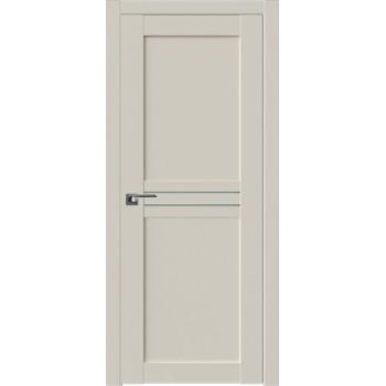 Дверь Профиль дорс 2.55U Магнолия сатинат - со стеклом (Товар № ZF211559)