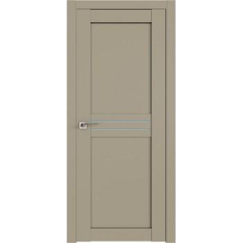 Дверь Профиль дорс 2.55U Шеллгрей - со стеклом (Товар № ZF211015)