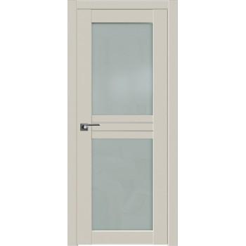 Дверь Профиль дорс 2.56U Магнолия сатинат - со стеклом (Товар № ZF211560)