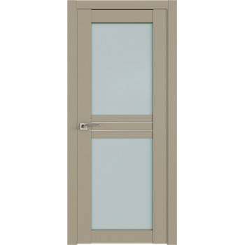 Дверь Профиль дорс 2.56U Шеллгрей - со стеклом (Товар № ZF211017)