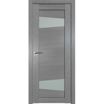Дверь Профиль дорс 2.84XN Грувд серый - со стеклом (Товар № ZF212064)