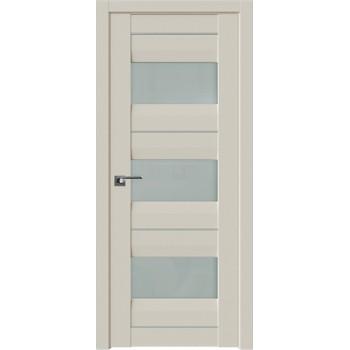 Дверь Профиль Дорс 41U Магнолия сатинат - со стеклом (Товар № ZF209233)
