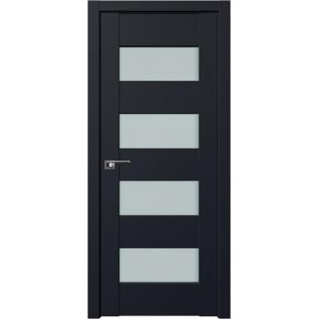 Дверь Профиль Дорс 46U Черный матовый - со стеклом (Товар № ZF211211)
