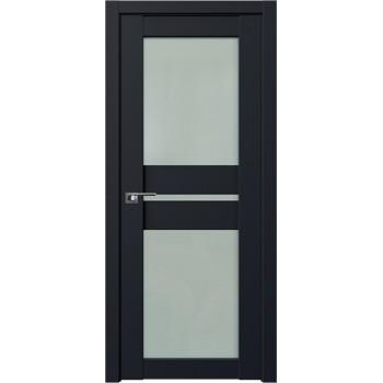 Дверь Профиль дорс 70U Черный матовый - со стеклом (Товар № ZF211653)