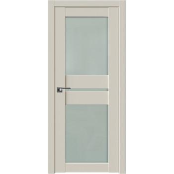 Дверь Профиль дорс 70U Магнолия сатинат - со стеклом (Товар № ZF211486)