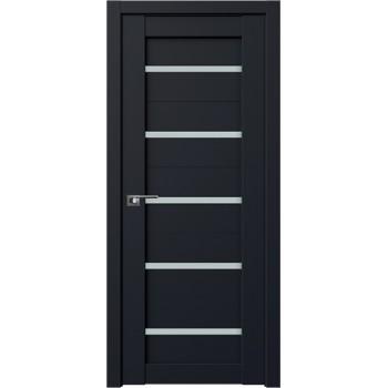 Дверь Профиль Дорс 7U Черный матовый - со стеклом (Товар № ZF209232)