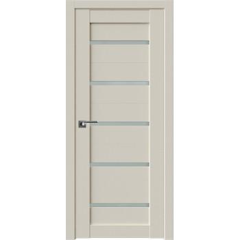 Дверь Профиль Дорс 7U Магнолия сатинат - со стеклом (Товар № ZF209207)