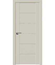 Дверь Профиль дорс 99U Магнолия сатинат - со стеклом (Товар № ZF211523)