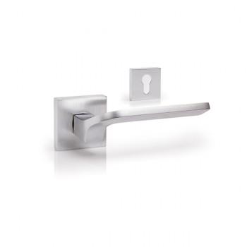 Дверная ручка DND Martinelli Joy матовый хром под цилиндр (Товар № ZF210723)