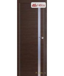 Межкомнатная дверь PROFIL DOORS. Модель 17 z прозрачное стекло , Цвет: венге кроскут , Отделка: экошпон (Товар № ZF139246)