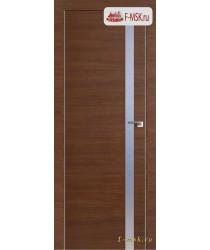 Межкомнатная дверь PROFIL DOORS. Модель 17 z прозрачное стекло , Цвет: черри кроскут , Отделка: экошпон (Товар № ZF139244)