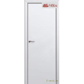 Межкомнатная дверь PROFIL DOORS. Модель 1 E , Цвет: аляска , Отделка: экошпон (Товар № ZF139248)