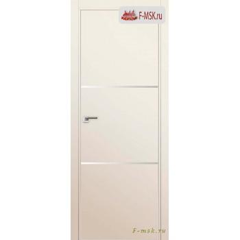 Межкомнатная дверь PROFIL DOORS. Модель 2 E молдинг AL , Цвет: магнолия сатинат , Отделка: экошпон (Товар № ZF139253)