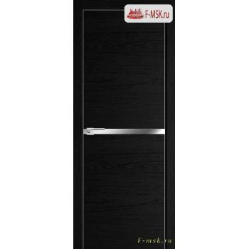 Межкомнатная дверь PROFIL DOORS. Модель 11 ZN молдинг AL , Цвет: дарк браун , Отделка: экошпон (Товар № ZF139376)