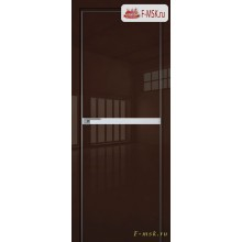 Межкомнатная дверь PROFIL DOORS. Модель 11 LK молдинг AL , Цвет: терра люкс , Отделка: глянец (Товар № ZF139450)
