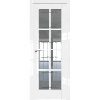 Модель 101L / Цвет Белый люкс / Стекло Прозрачное