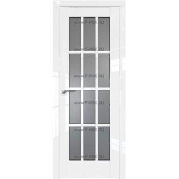 Модель 102L / Цвет Белый люкс / Стекло Графит