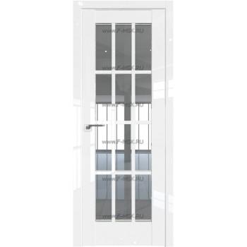 Модель 102L / Цвет Белый люкс / Стекло Прозрачное