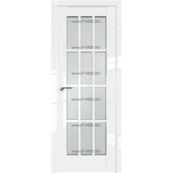 Модель 102L / Цвет Белый люкс / Стекло Матовое