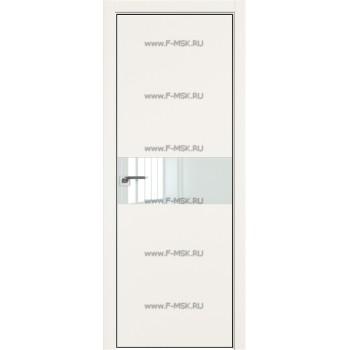 Модель 4E / Цвет ДаркВайт / Стекло Lacobel Белый лак / Кромка Black Edition с 4-х сторон