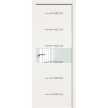 Модель 4E / Цвет ДаркВайт / Стекло Lacobel Белый лак / Кромка Матовая с 4-х сторон
