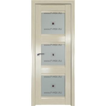 Модель 4X / Цвет Эш Вайт / Стекло Узор матовое с коричневым фьюзингом(квадрат)