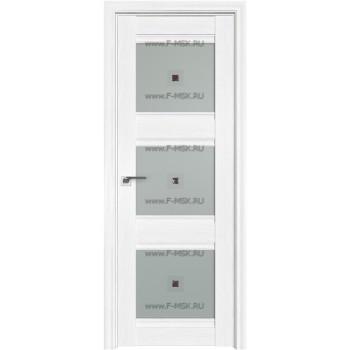 Модель 4X / Цвет Пекан белый / Стекло Узор матовое с коричневым фьюзингом(квадрат)
