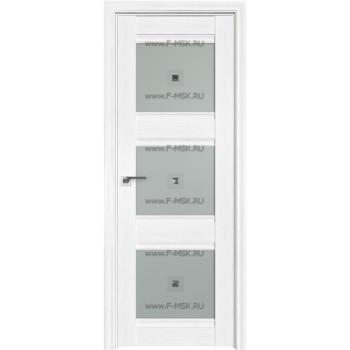 Модель 4X / Цвет Пекан белый / Стекло Узор матовое с прозрачным фьюзингом(квадрат)