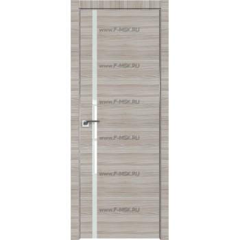 Модель 22Z / Цвет Капучино Кроскут / Стекло Lacobel Белый лак / Кромка Матовая алюминиевая