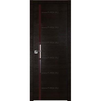 Модель 22Z / Цвет Венге Кроскут / Стекло Lacobel Коричневый лак / Кромка Black Edition
