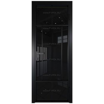 Модель 10AG / Стекло Черный триплекс / Цвет профиля Черный матовый RAL9005