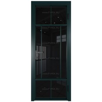 Модель 10AG / Стекло Черный триплекс / Цвет профиля Зеленый матовый RAL6004